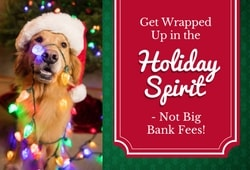 Get wrapped up in the holiday spirit - not big bank fees!