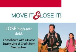 Lose high-rate debt when you consolidate with a Home Equity Line of Credit from Sandia Area!