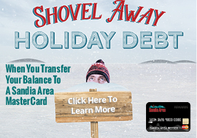 Shovel Away Holiday Debt. Transfer your high interest credit card balances and save!